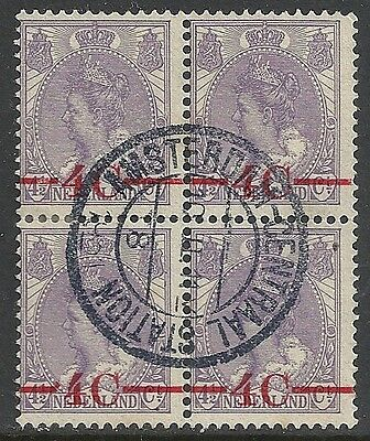 Netherlands stamps 1920 NVPH 106P Bloc of 4 Attest Dr.Louis