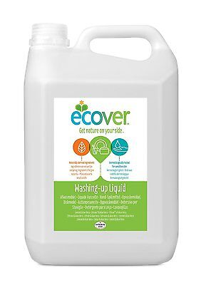 Original Ecover Plant Based Washing Up Liquid Lemon and Aloe Vera 5 Litre Refill
