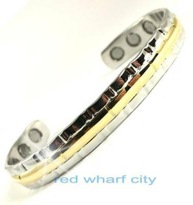 Ladies Fancy Silver & Gold Colour Bio Magnetic Healing Bangle For Arthritis