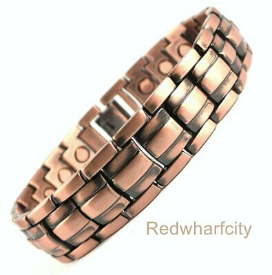 Mens Bio Magnetic Chunky Copper Bracelet For Pain Relief And Arthritis