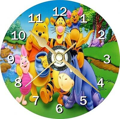Winnie The Pooh Novelty Cd Clock Can be personalised