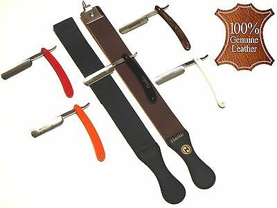 7Pcs Mens Classic Shaving Razors Leather Shaping Strop Kit