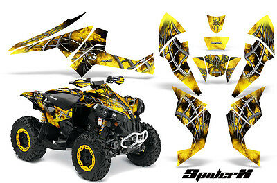 Can-Am Renegade Graphics Kit by CreatorX Decals Stickers SPIDERX Yellow SXYB