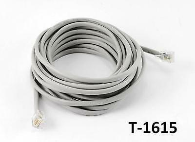10ft Gray RJ12 6P6C Flat Modular Telephone Cable CablesOnline T-6C10