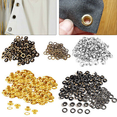 50 x Size 700 Eyelets in 6.5mm Silver or Size 500 in 5.1mm in Silver or Bronzes