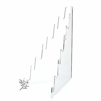 1 Multi Tier Knife Holder Clear Plastic Display Stand Easel