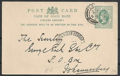 Cape of Good Hope covers 1901 private PC East London