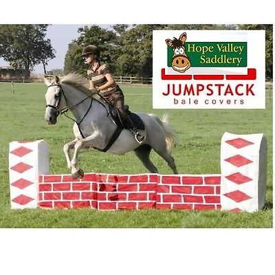 Jumpstack TWO Bale Covers - Horse Pony Show Jumps Fillers - Twin Pack