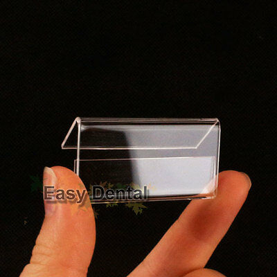 80pcs SMALL Table Name Card Price Tag Sign Display Stand Holder 2cmx4cm