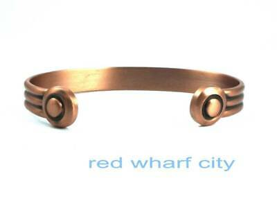 Mens Med Bio Healing Solid Copper Magnetic Therapy Bangle-Arthritis Pain Relief