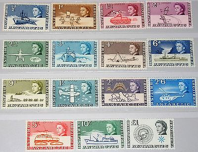 BAT BRITISH ANTARCTIC 1963 1-15 Ships Helicopter Planes Exploration Fauna MNH