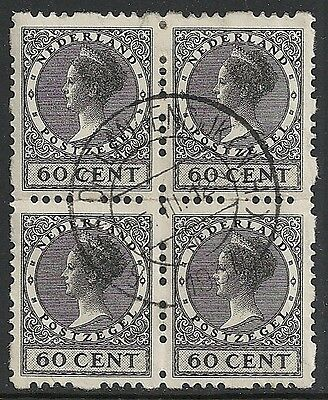 Netherlands stamps 1928 NVPH Roltanding 56  Bloc of 4  CANC  VF