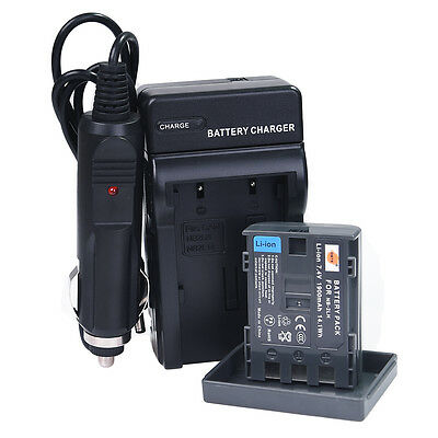 DSTE NB-2L NB-2LH Battery + Charger for Canon PowerShot S80 G7 G9 ZR960 MVX350i