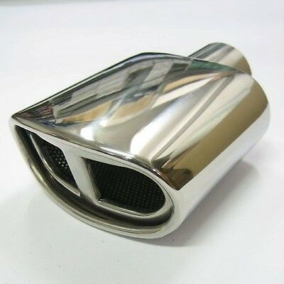 "New 5.90"" Universal Chrome Exhaust Pipe Muffler Tip - Stainless Steel"