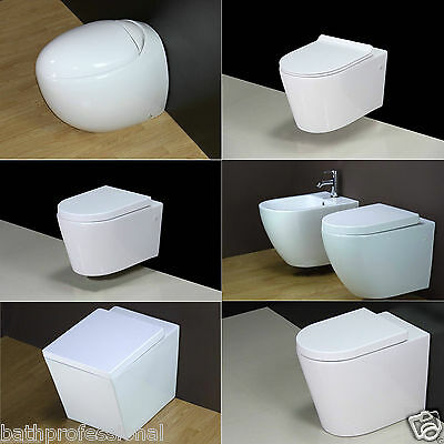 Toilet WC Bathroom Wall Hung Back to wall Square Egg Pod Short Project Cloakroom