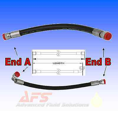 1/4 Inch ID 2 Wire Hydraulic Hose Assembly Fitted with BSP Hose Tail Inserts 2SC