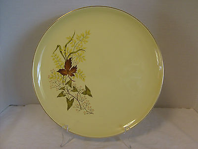 Taylor, Smith & Taylor Versatile Leaf O' Gold Dinner Plate, Yellow w/ Gold trim