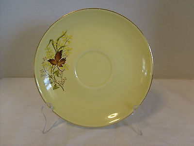 Taylor, Smith & Taylor Versatile Leaf O' Gold Saucer, Yellow w/ Gold trim