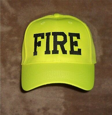 FIRE Hat Hi Viz  Hi Vis Firefighter Fire Department Safety Yellow