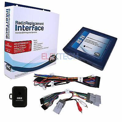RADIO REPLACEMENT INTERFACE & Dash Kit 2-DIN for GM Vehicles with