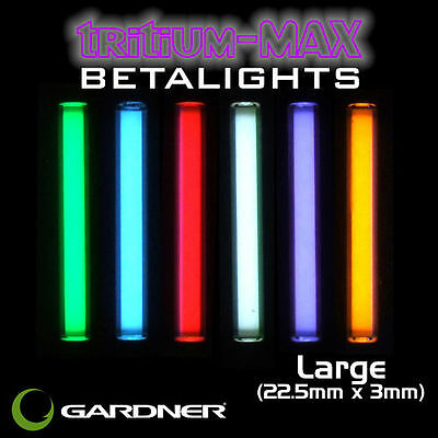 Gardner Tackle NEW Tritium Max Large Betalights Isotopes *22.5mm x 3mm*