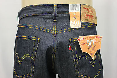 "NWT LEVI'S 501-0000 INDIGO BLUE RIGID JEANS ""SHRINK TO FIT"" LEVI'S JEAN SZ:40x30"