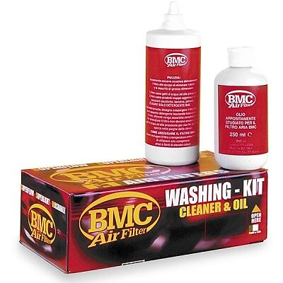 BMC Air Filter Washing Kit with Cleaning Fluid/Detergent & Squeeze Oil WA250-500