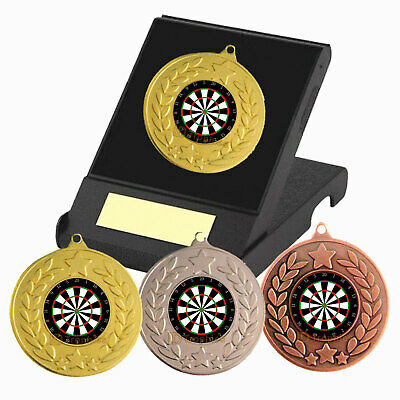 Darts Medal in Presentation Box with Free Engraving - Darts Trophies - Dartboard