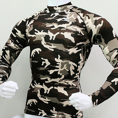 New Take Five Mens Compression 062 Sports Tight Base Layer Top Military