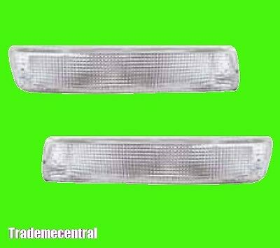 Toyota Landcruiser 80 Series Clear Front Indicators Lights Right & Left Side NEW