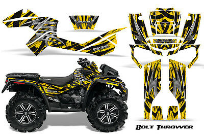"CAN-AM OUTLANDER 2012-2014 /""MACHINEHEAD/"" PARTIAL SIDE PANEL YELLOW GRAPHICS KIT"