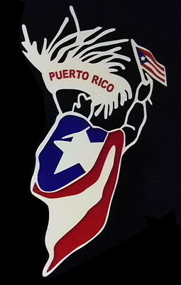 PUERTO RICO CAR DECAL STICKER  with FLAG #158