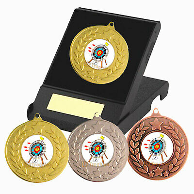 Archery Medal in Presentation Box - Free Engraving - Archery Trophies - New