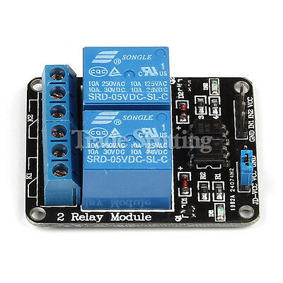 2 Channel 5V Relay Module Opto-couple For Arduino ARM PIC AVR DSP SRD-05VDC-SL-C