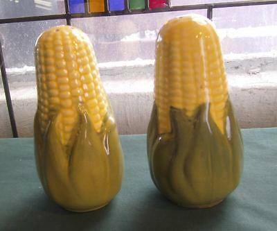 Vintage King Corn Shawnee Pottery Large Salt & Pepper Shakers S&p Kitchen