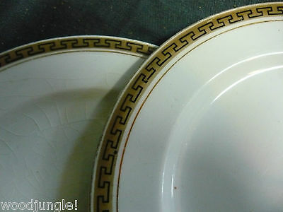 2 Antique W.H. GRINDLEY  THE OLYMPIC 7 inch plates  ENGLAND  Vintage