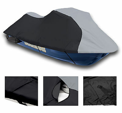 600 DENIER Kawasaki STX-15F 2004-2012 Jet Ski Trailerable Cover Grey/Black