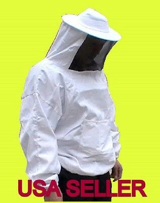 New-Beekeeping one piece Veil & Bee Jacket-X large size ( US Seller)