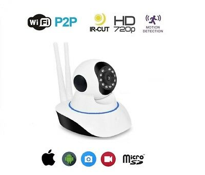 Telecamera Ip Cam Camera Hd 720P Wireless Led Ir Lan Motorizzata Wifi Rete Onvif