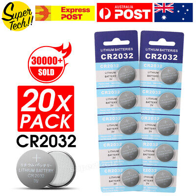 20pcs CR2032 3V LITHIUM CELL Button BATTERY 5004LC 2032 ECR2032 Car Key Toys OZ