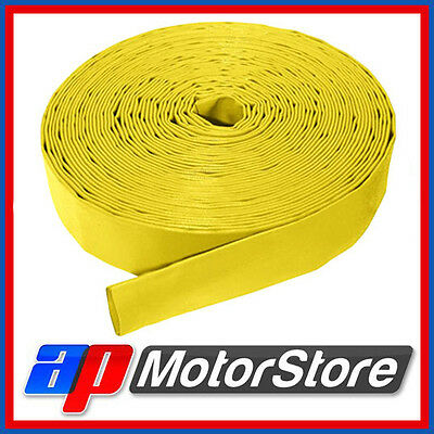 Layflat Pvc Water Delivery Hose - Discharge Pipe Pump Lay Flat Irrigation Yellow