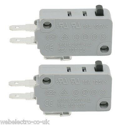 09008 2x Microswitch 1 Circuit 4A 250V Snap Action Micro Switch SPDT