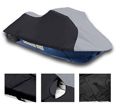 600 DENIER Kawasaki STX-12F 2003 2004 -2007 Jet Ski Trailerable Cover Grey/Black