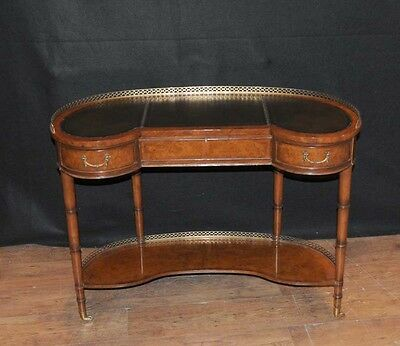 Regency Walnut Kidney Desk Writing Table Bureau Furniture