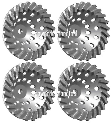 "3Pcs-7"" x24 SEG NEW POWER TURBO DIAMOND CUP WHEEL 4 HARD CONCRETE STONE MASONRY"