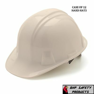 Pyramex Cap Style Safety Hard Hat White 4 Point Ratchet Construction (12 Hats)