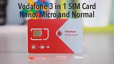 50x VODAFONE UK PAY AS YOU GO SIM CARD 4G NEW VODA SIMS BULK WHOLESALE JOBLOT