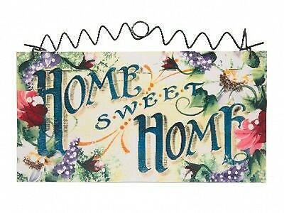 NEW DecoGreetings Brand Shabby Cottage Roses Plaque WOODEN SIGN Chic Sweet Home