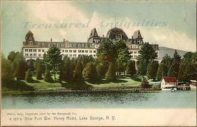 1905 Lake George New York Fort William Henry Hotel RotoGraph Postcard NonDivided