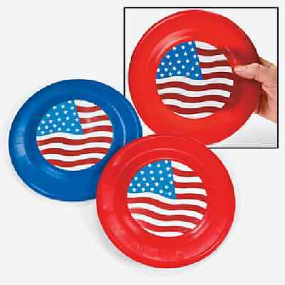 Flying Patriotic Saucers / LOT OF 6 PC / PATRIOTIC / 4 TH OF JULY (35452)